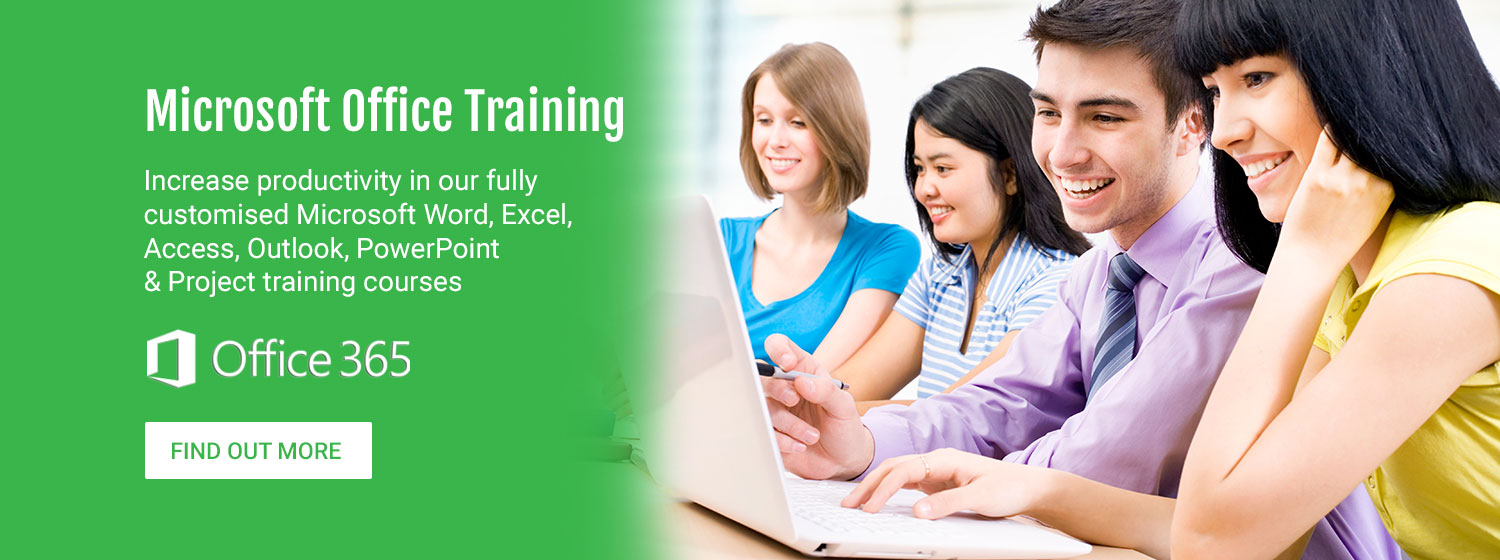Microsoft Office Training. Increase productivity in our fully customised Microsoft Word, Excel, Access, Outlook, PowerPoint & Project training courses. Office 365. Find out more.